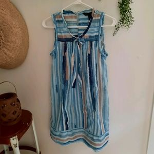Marc by Marc Jacobs Blue Striped Front Tie Dress